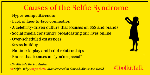 Causes of selfie syndrome